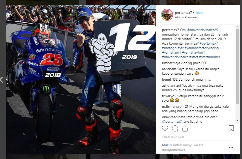 Maverick Vinales Number Start MotoGp 2019