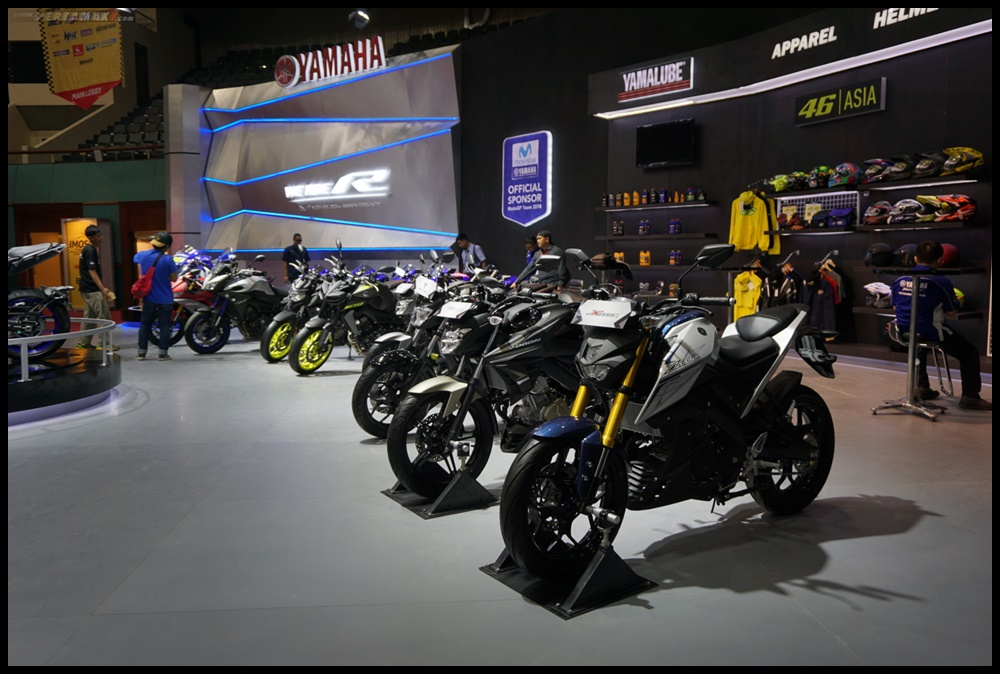 Motor-motor Yamaha di event Indonesia Motorcycle Show (IMOS) 2018