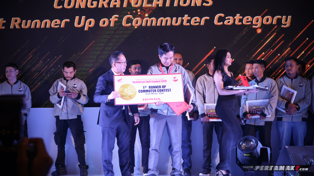 1st Runner Up Commuter Contest Honda Asia-Oceania Motorcycle Technician Skill Contest 2018