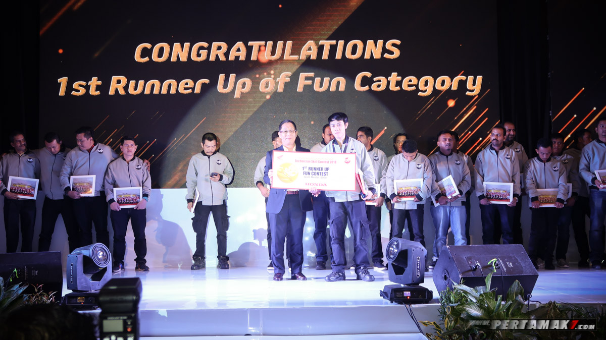 1st Runner Up Fun Contest Big Bike Honda Asia-Oceania Motorcycle Technician Skill Contest 2018