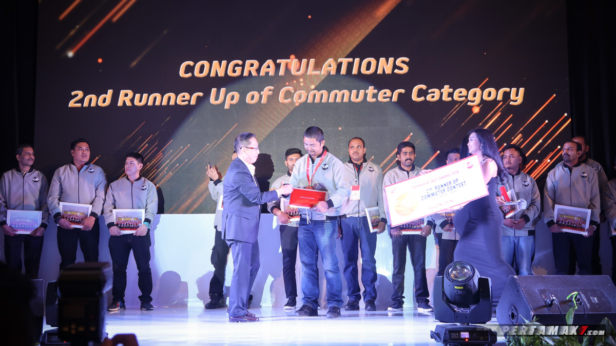 2nd Runner Up Commuter Contest Honda Asia-Oceania Motorcycle Technician Skill Contest 2018