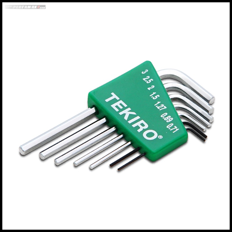 HEX KEY ELECTRO SET 7 PCS KUNCI L SET Tekiro 7 PCS