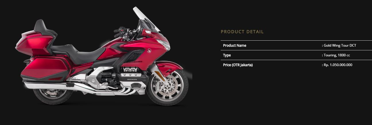 Harga Honda Goldwing 2018