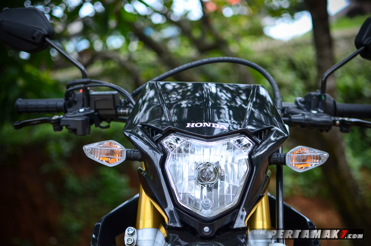 Headlamp Honda CRF150L Hitam Supermoto