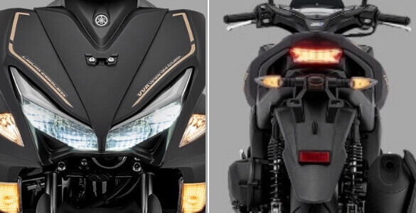 Headlamp Yamaha Aerox black gold