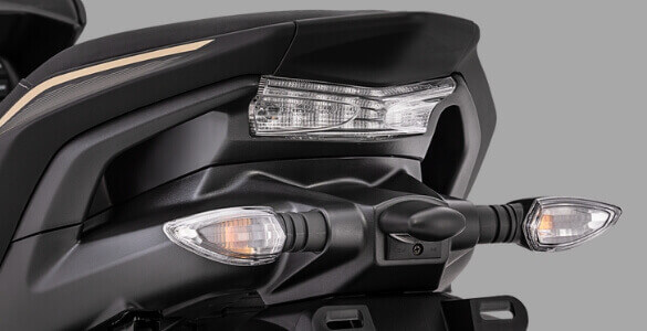 Stoplamp Yamaha Aerox black gold