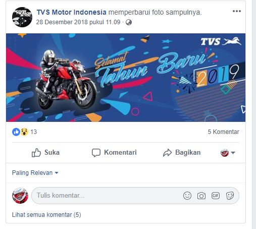 Facebook TVS Motor Indonesia
