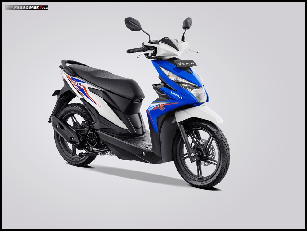 Honda BeAt Variant White Blue 2019