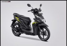Honda Beat Variant Black Yellow 2019