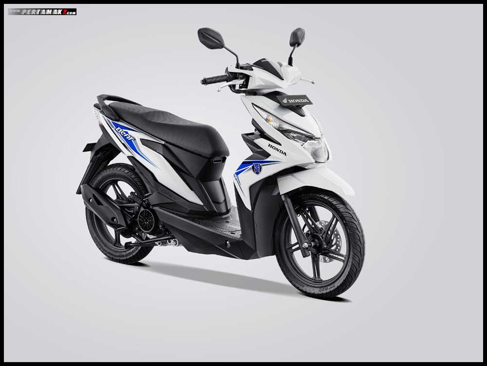 Honda Beat Variant White Blue Strip 2019