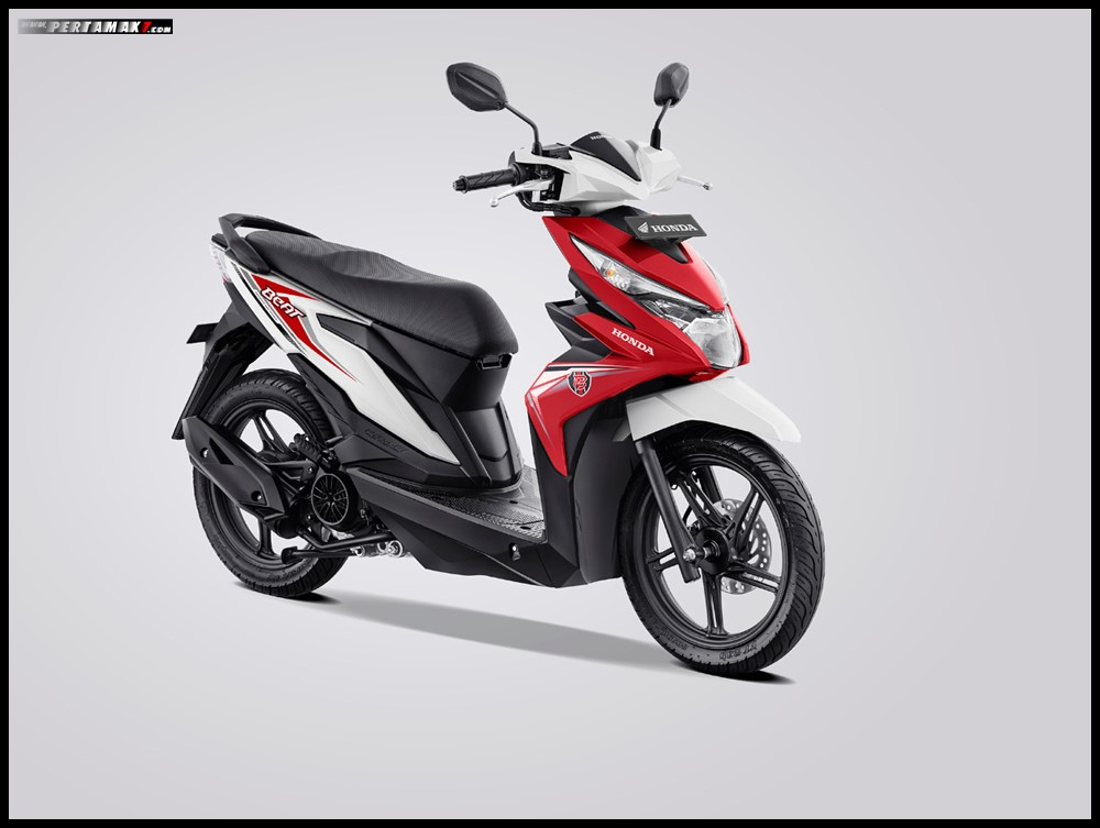 Honda Beat Variant White Red 2019