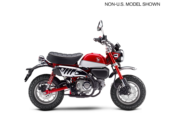 Honda Monkey 125 Warna Merah Pearl Nebula Red