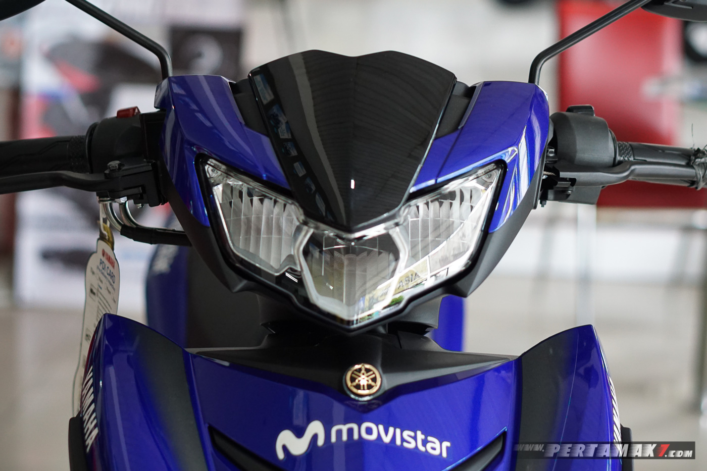 Lampu depan Yamaha MX KING MotoGP Movistar 2019