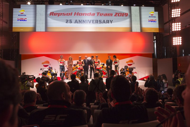 Suasana Launching Repsol Honda Team MotoGP 2019
