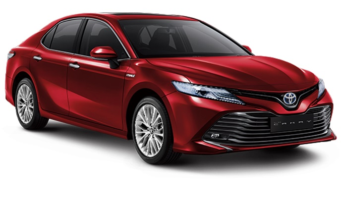 Toyota All New Camry Hybrid Indonesia Warna merah Red Mica