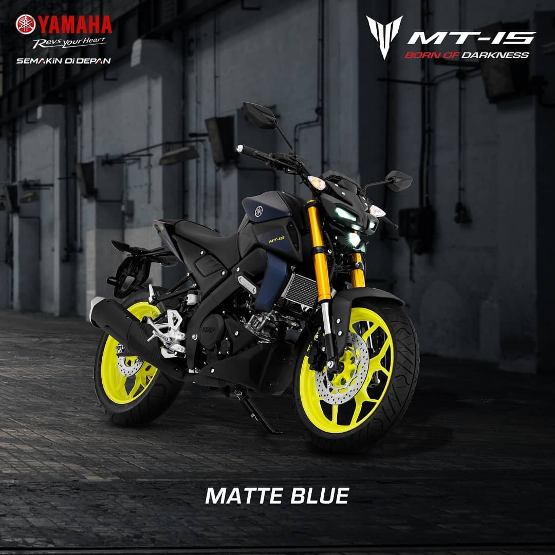 Yamaha MT15 Indonesia Warna Biru Doff