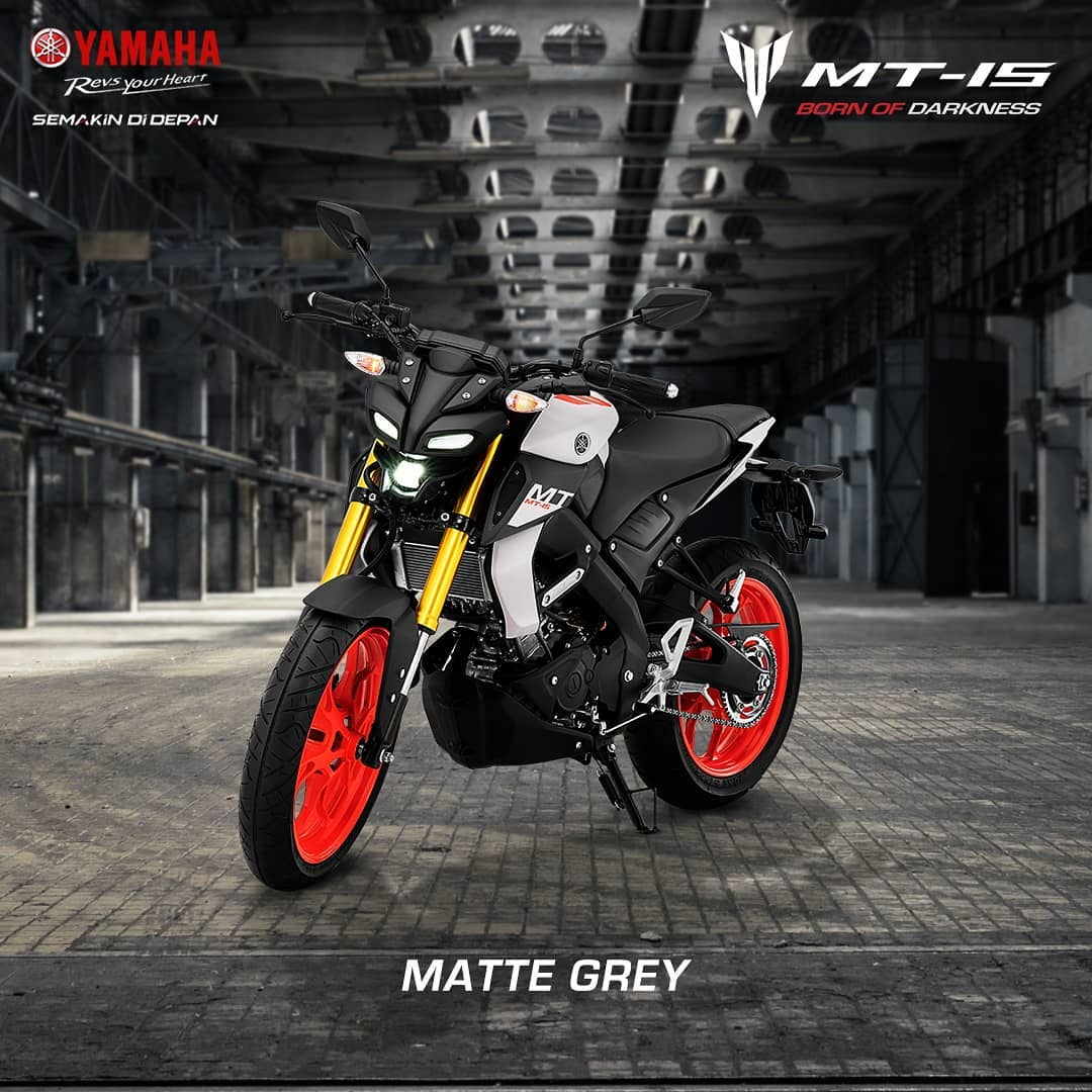 Yamaha MT15 Indonesia Warna Matte Grey