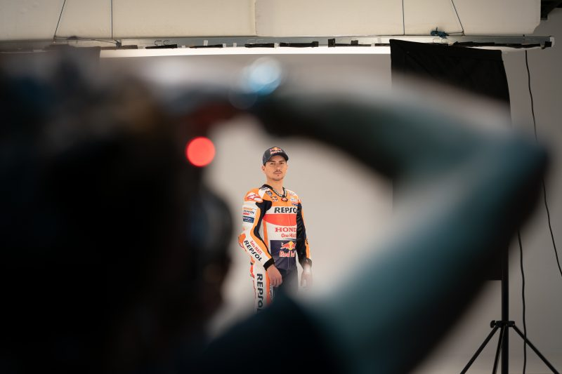 Jorge Lorenzo Honda Repsol Team Photoshoot
