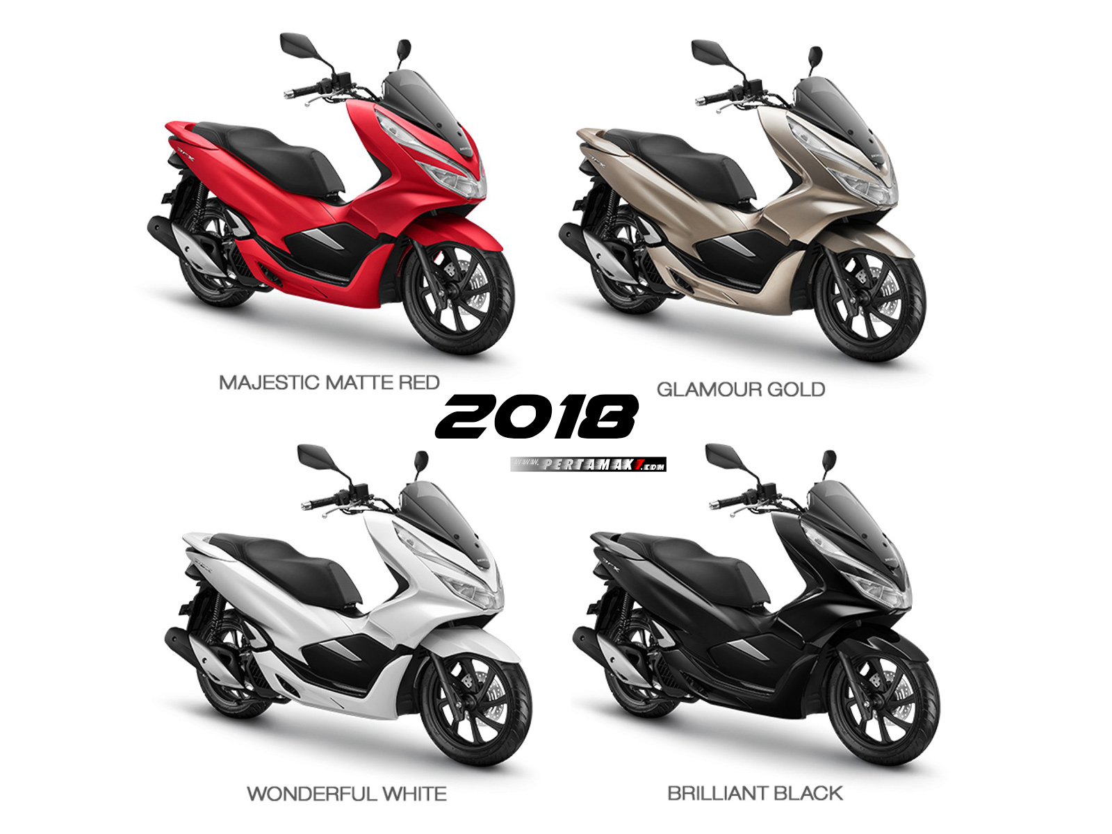 Warna Honda PCX 150 Indonesia 2018