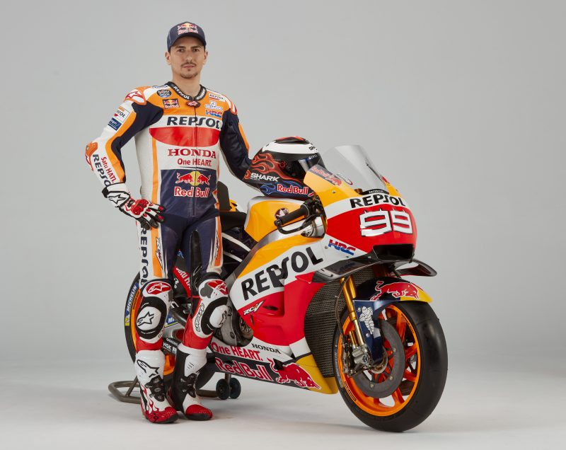 left Jorge Lorenzo On Honda RC213V 2019 MotoGP