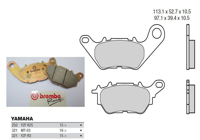 Brembo Z04 Pads Yamaha R3 WSSP300