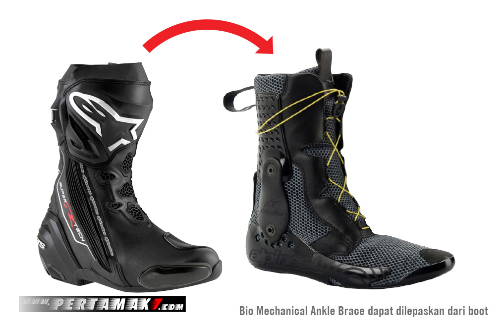 Fitur Alpinestars Supertech-R Bio Mechanical Ankle Brace