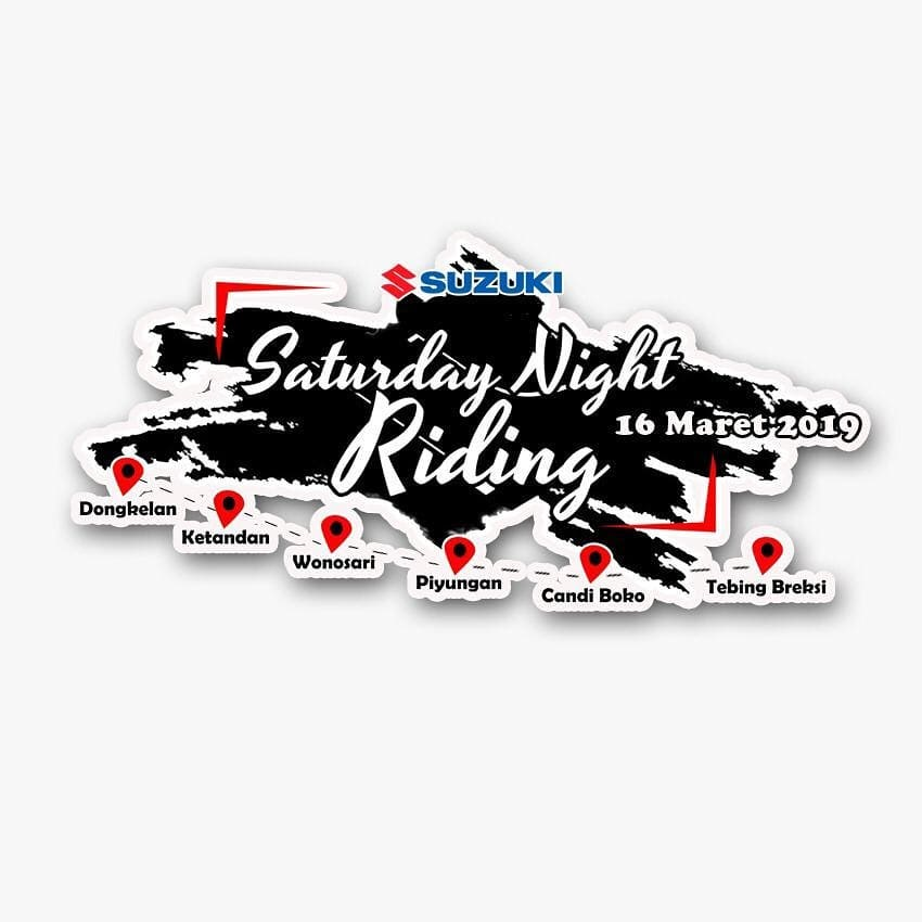Rute Suzuki Saturday Night Riding Jogja