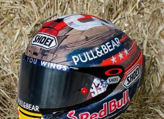 Depan Kiri Shoei MM RODEO NINETYTHREE Marc Marquez Cota 2019