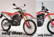 Honda CRF150L Rims Silver VS Black