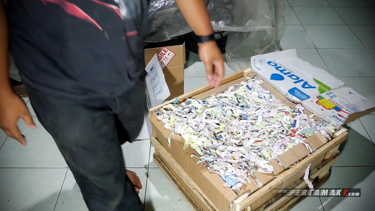 potongan kertas pengaman packaging body kit nmax lent automodified