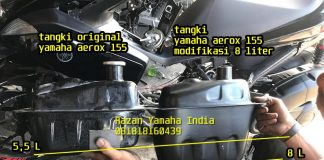 Modifikasi Tangki Bensin Yamaha Aerox 155 std vs modifikasi 8 liter