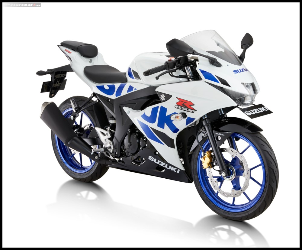 Suzuki GSX-R150 ABS Warna Briliant White-Vigor Blue CW