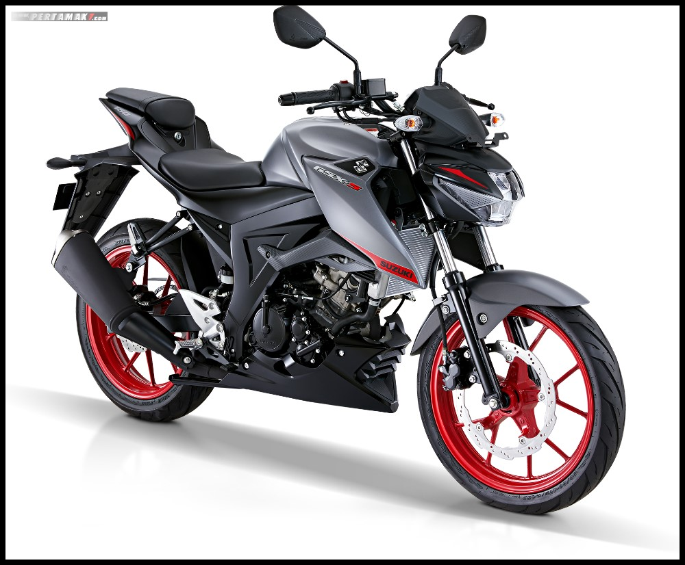 Suzuki GSX-S150 Terbaru 2019 warna Fibroin Gray-Rouge Red CW
