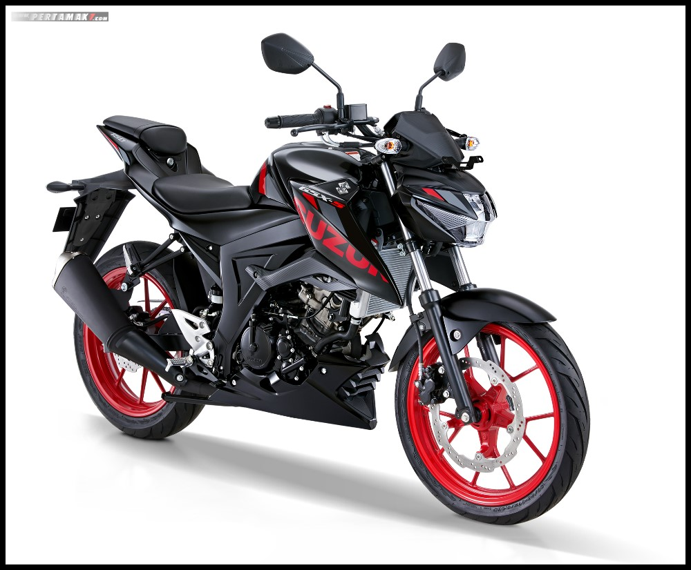 Suzuki GSX-S150 Terbaru 2019 warna Titan Black-Rouge Red CW.