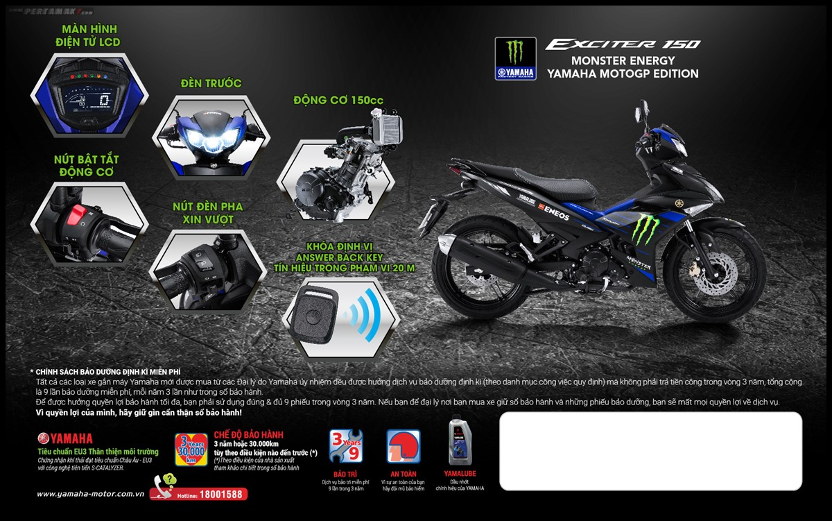 fitur yamaha exciter monster energy
