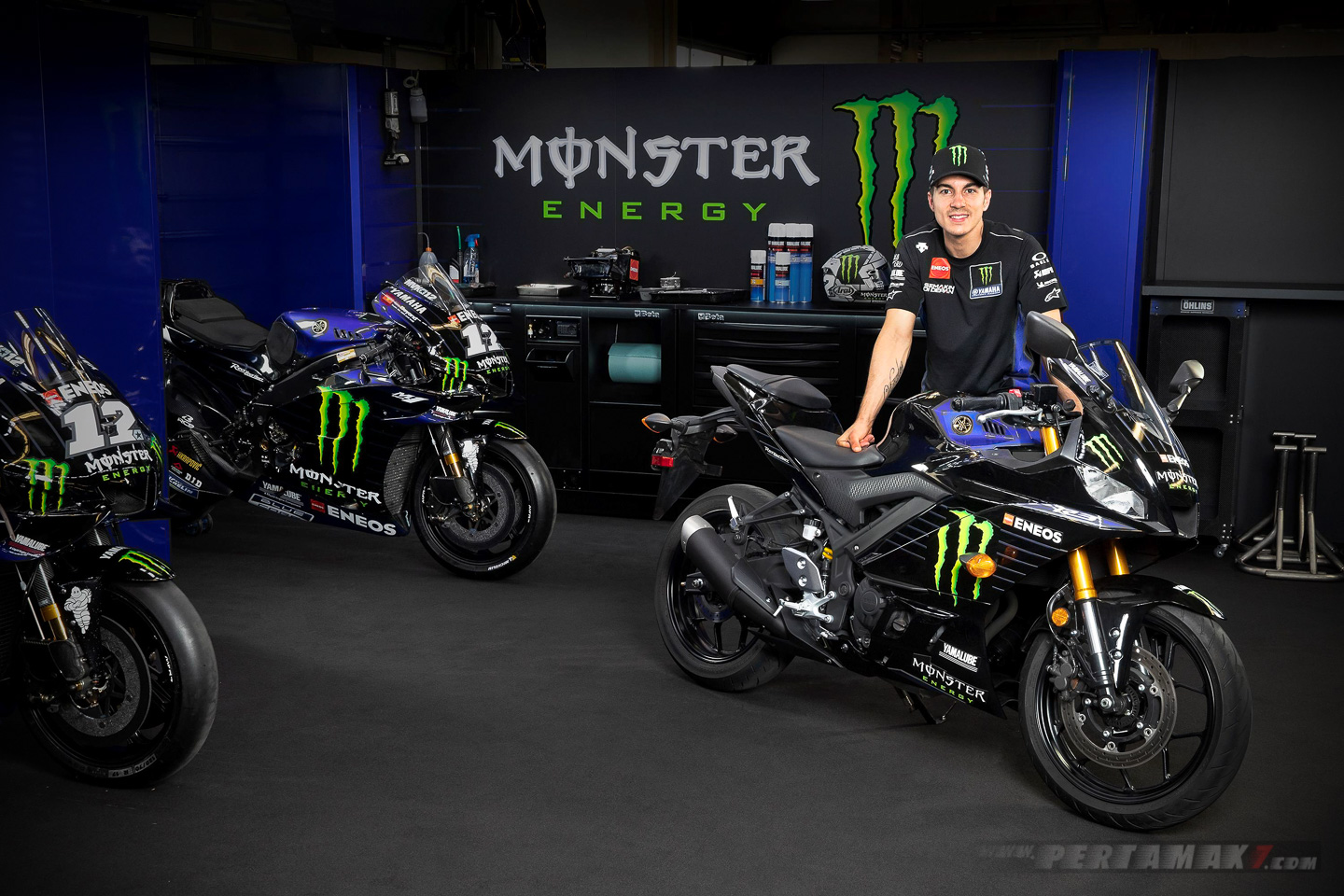 Vinales Yamaha R3 Monster Energy
