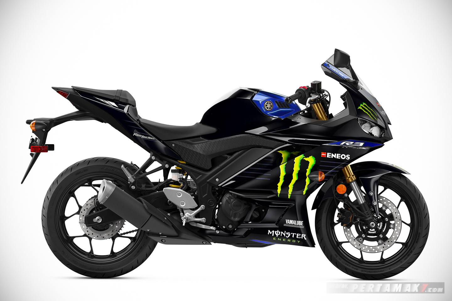 Yamaha R3 Monster Energy MotoGP Edition 2019 Kanan