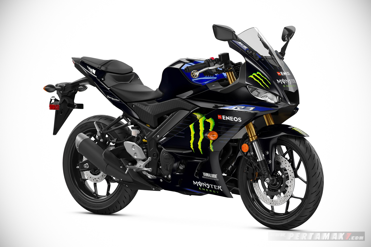Yamaha R3 Monster Energy kanan depan