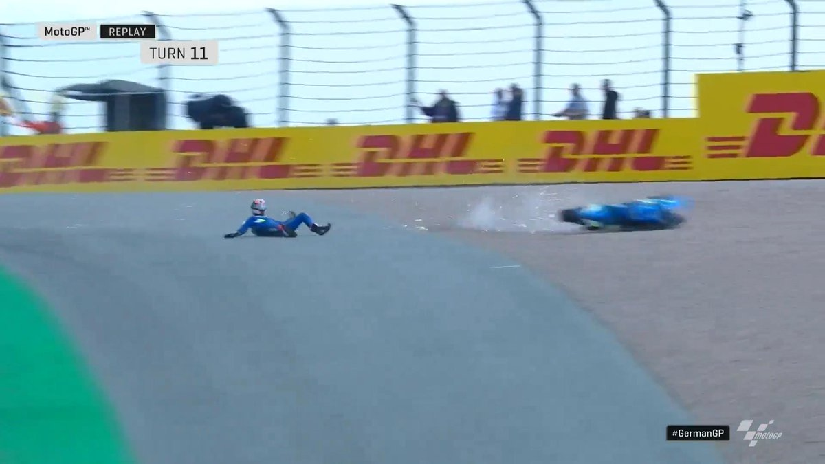 Alex Rins Crash MotoGP Jerman 2019