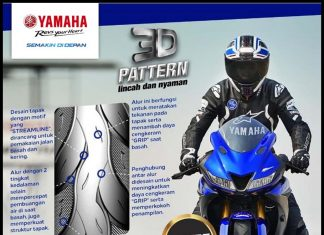 Ban Baru Yamaha Dengan 3D Pattern Soft Compound Smart Choice