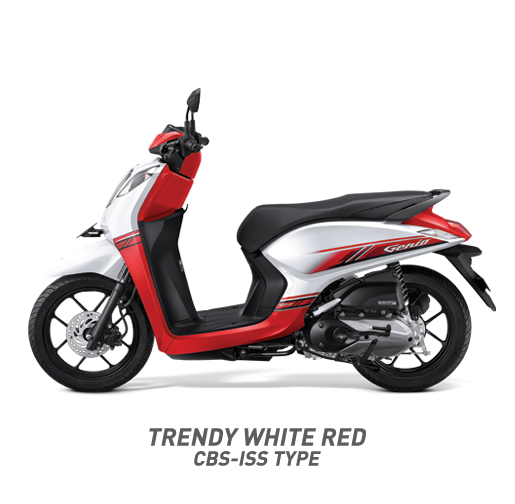 Honda Genio 110 CBS-ISS Type Warna Merah Putih Trendy White Red