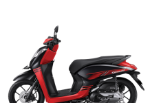 Honda Genio 110 CBS-ISS Type Warna Trendy Black Red Merah Hitam