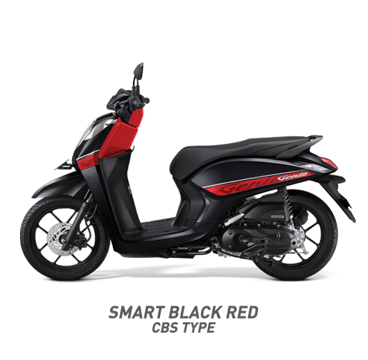 Honda Genio 110 CBS Type Warna Merah Hitam Smart Black red