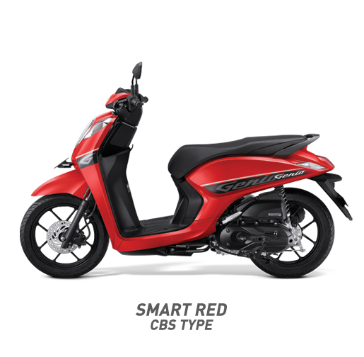 Honda Genio 110 CBS Type Warna Merah Smart Red