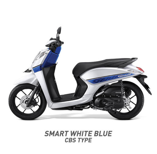Honda Genio 110 CBS Type Warna Putih Biru Smart White Blue