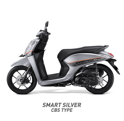 Honda Genio 110 CBS Type Warna Smart Silver