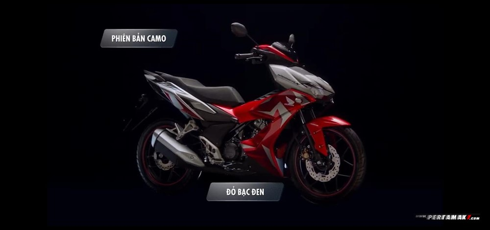 Honda Winnner X 150 CAMO Warna RED SILVER
