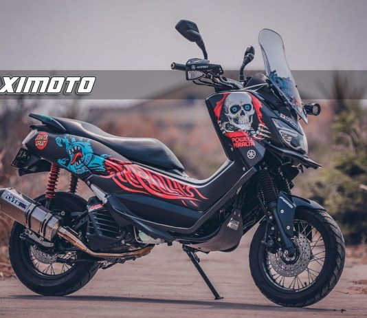 Modifikasi Yamaha NMAX Adventure ala MAXIMOTO