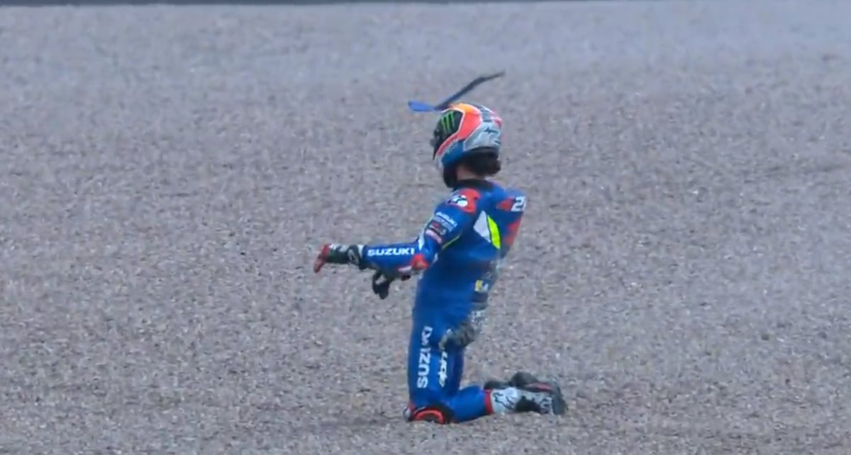 MotoGP Jerman 2019 Alex Rins Crash