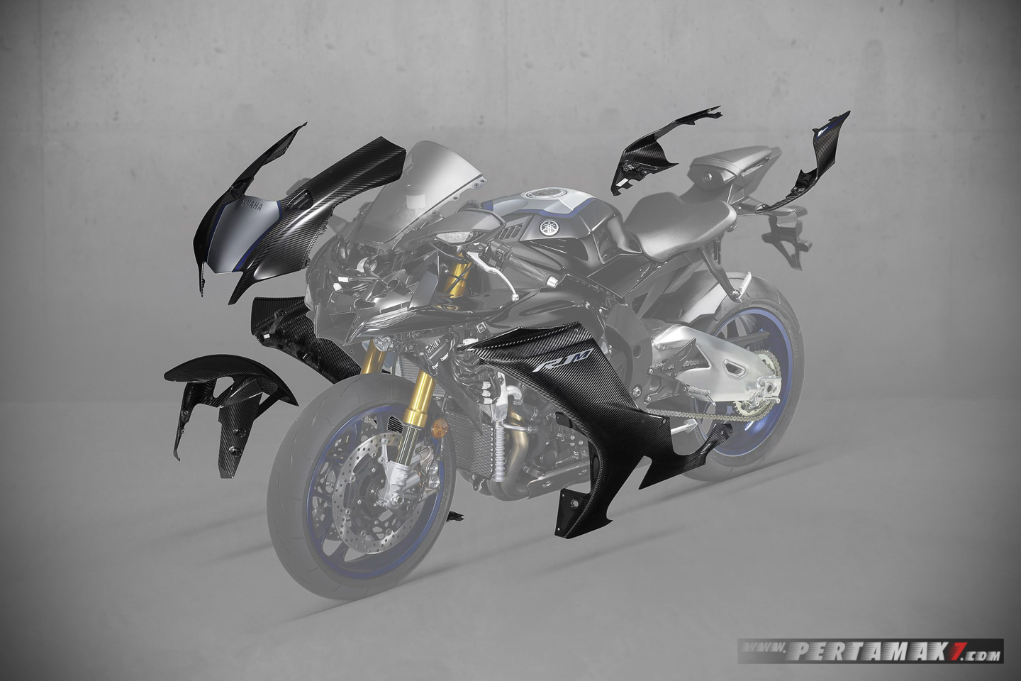 New improved aerodynamics Carbon Fiber Yamaha R1M 2020